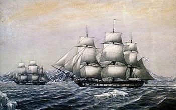 Русские моряки открыли Антарктиду. Беллинсгаузен и Лазарев