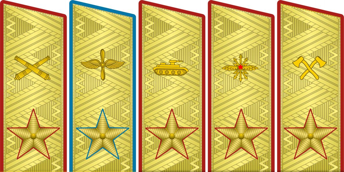 Указом Президиума Верховного Совета установлены воинские звания высшего командного состава - маршал авиации, маршал артиллерии, маршал бронетанковых войск
