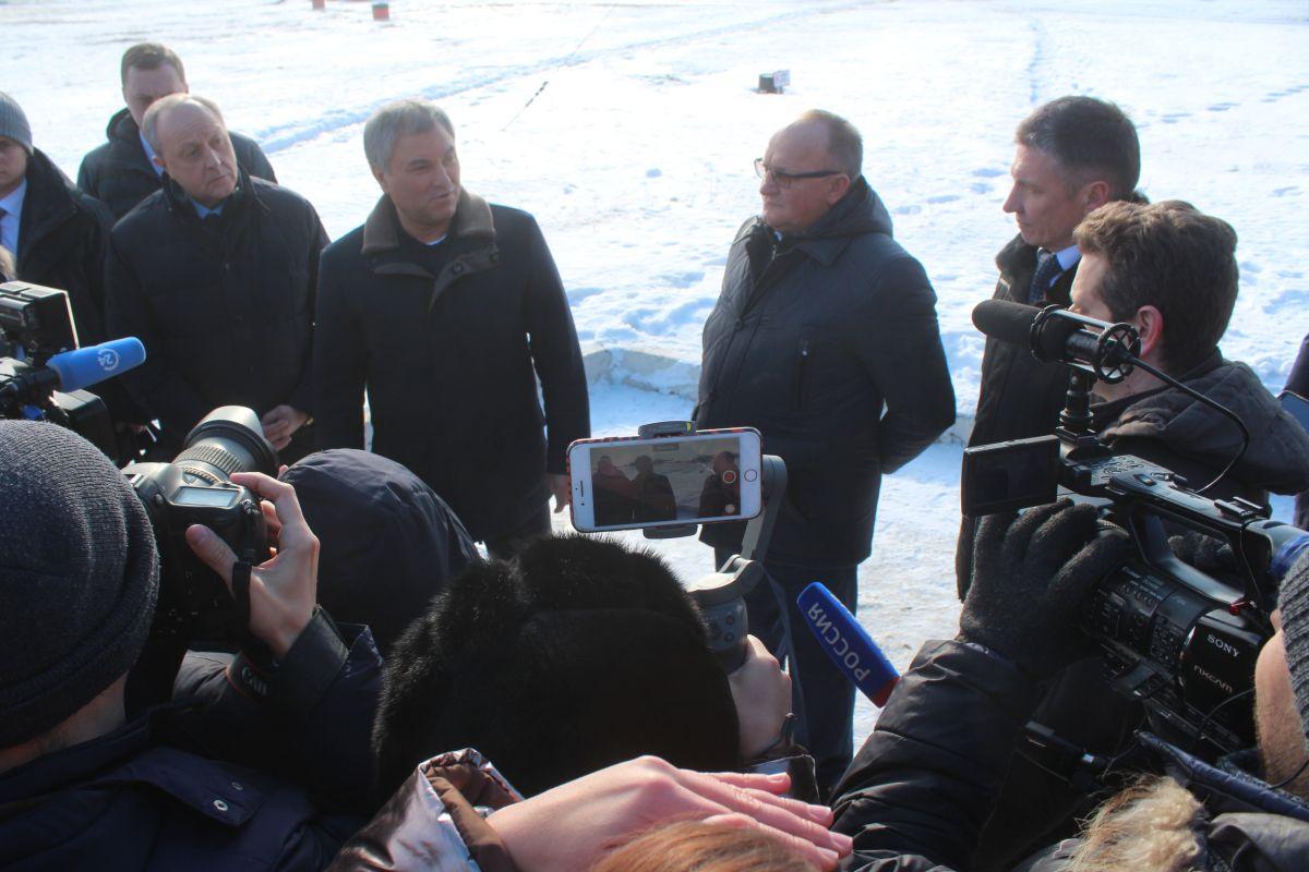 Председатель Госдумы Вячеслав Володин посетил Саратовский аэроклуб ДОСААФ им. Ю.А. Гагарина