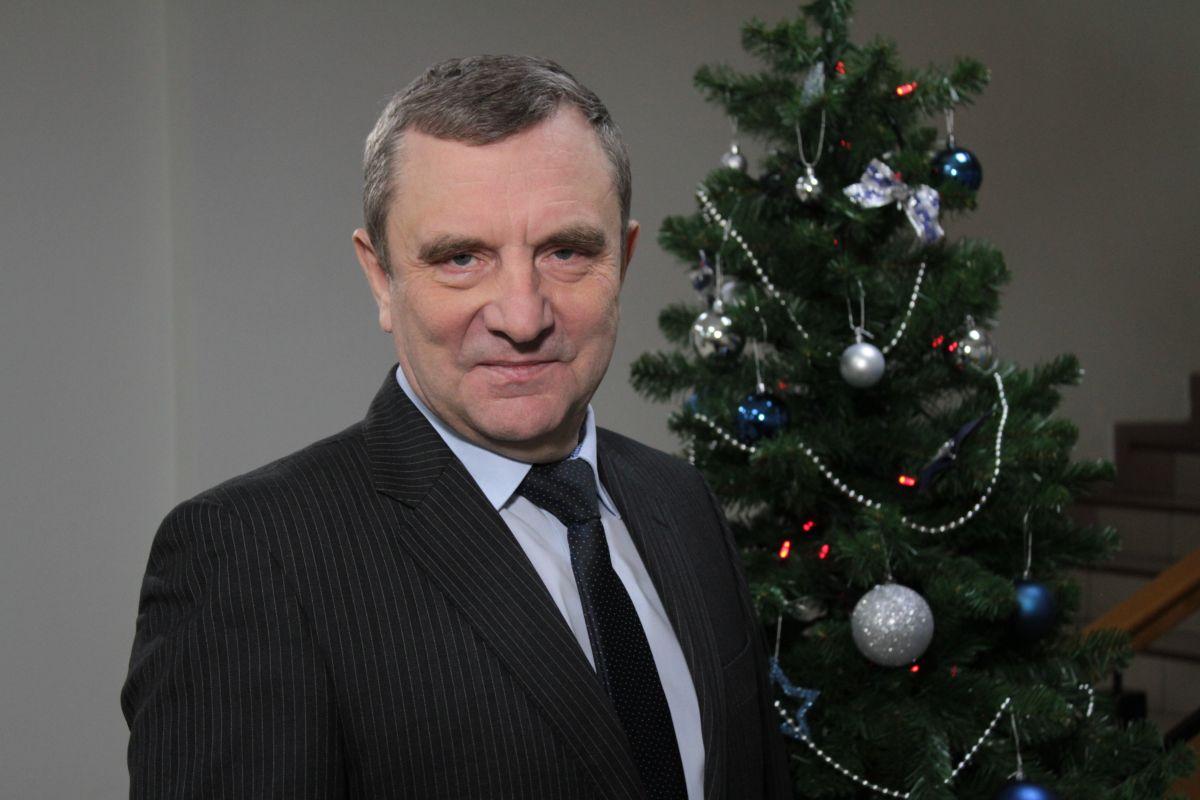 Поздравление председателя ДОСААФ Александра Колмакова с Новым годом и Рождеством
