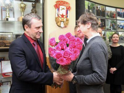 В ДОСААФ России чествовали легендарную спортсменку Елену Климович
